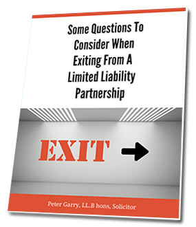 Some Questions to Consider When Exiting From A Limited Liability Partnership