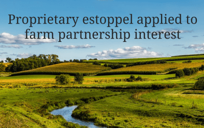 Court-ordered transfer of farm partnership interest following repeated promises