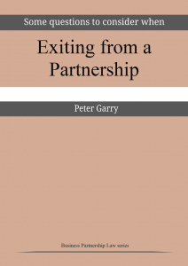 Exiting from a partnership